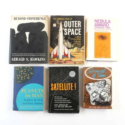"""Space Exploration and Science Fiction Books Including """"Planets for Man"""""""
