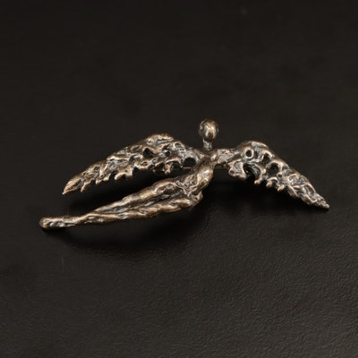 David Yurman Sterling Silver Angel Brooch