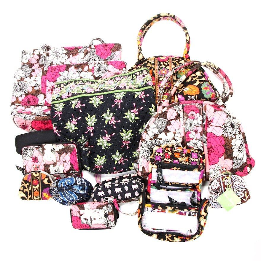 Vera Bradley Quilted Textile Handbags and Accessories in Various Patterns