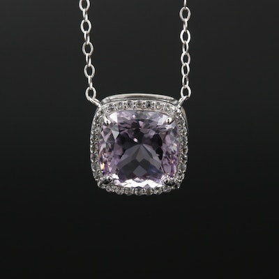 Sterling Silver Amethyst and Topaz Necklace