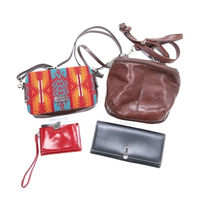 Pendleton Crossbody, Coach and Hobo International Wallets