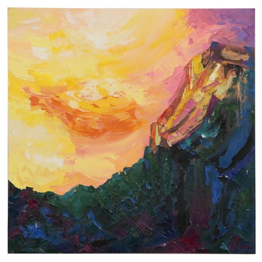 Alyona Glushchenko Abstract Oil Painting
