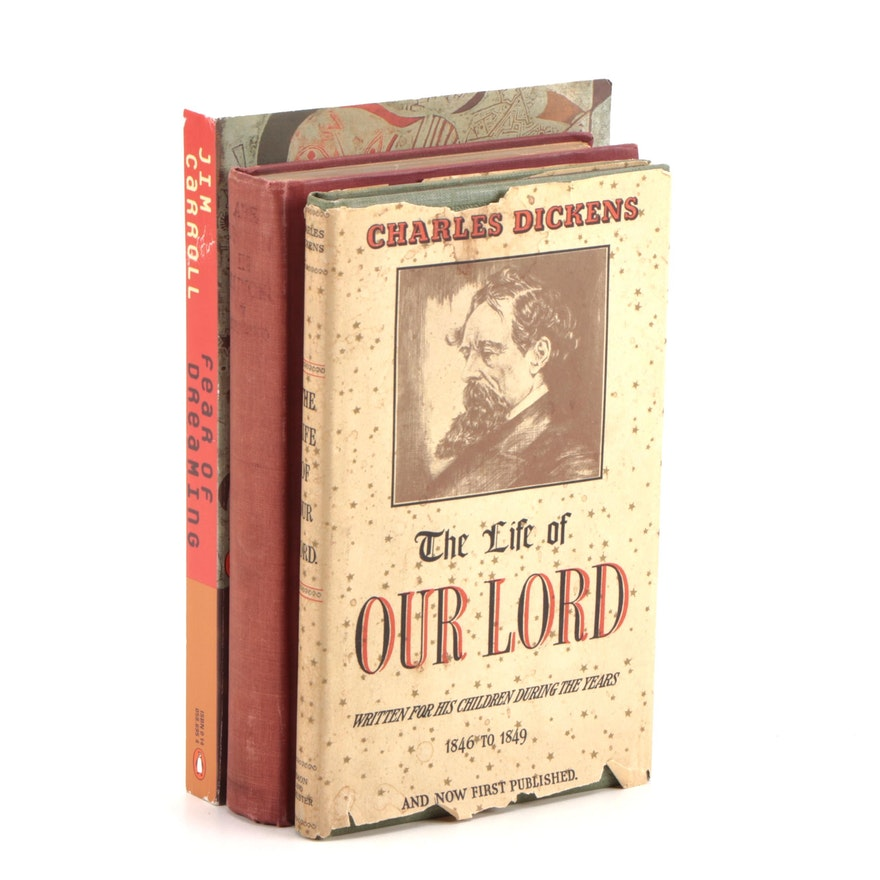 """First Edition """"The Life of Our Lord"""" by Charles Dickens with Other Books"""