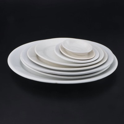 Meakin, Trenton and Other Ironstone Oval Serving Platters