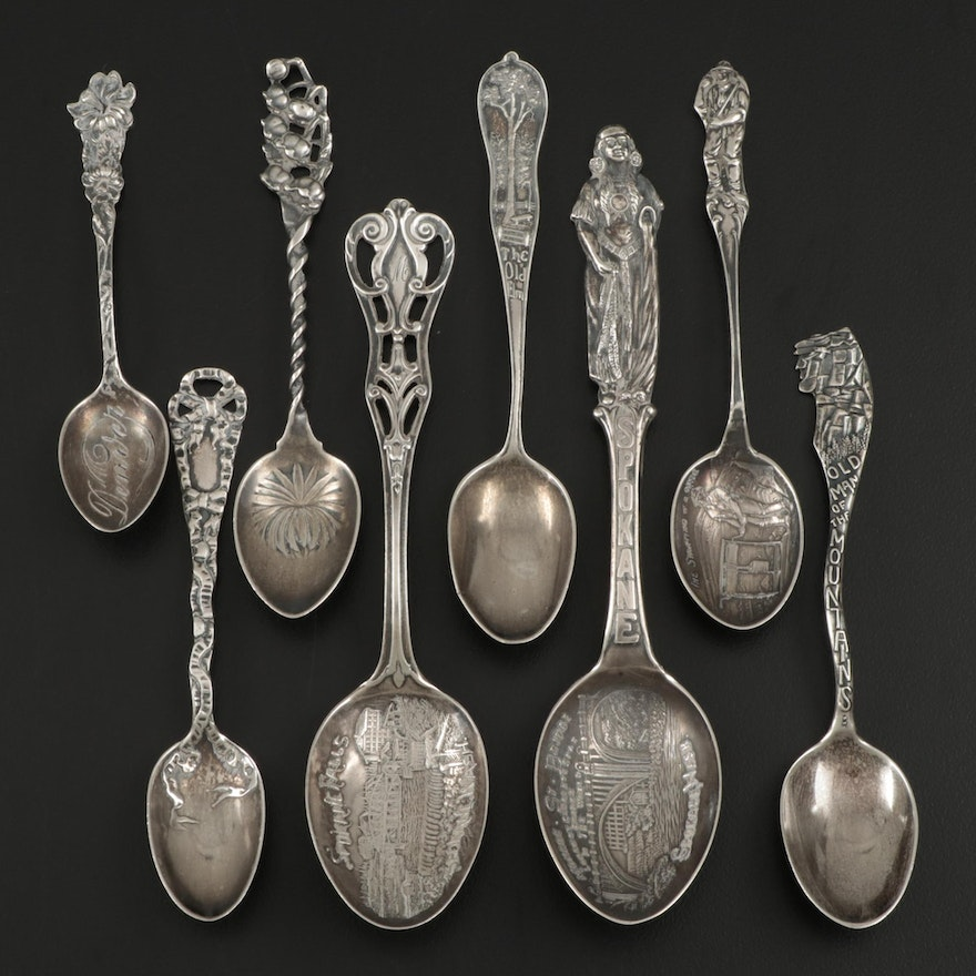 American Sterling Silver Souvenir and Demitasse Spoons