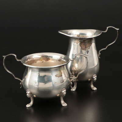 Ambassador Sterling Silver Cream and Sugar, Mid-20th Century