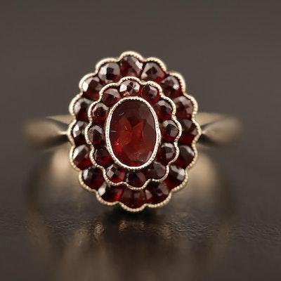 Victorian 8K Garnet Ring