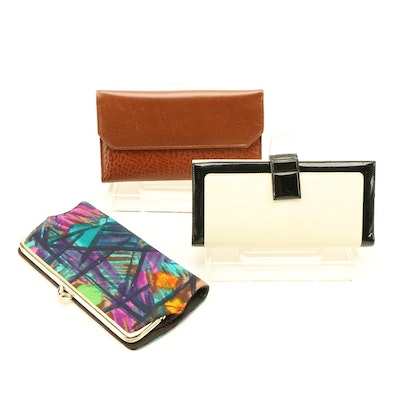 John Weitz Checkbook Wallet, Bond Street and Boutiques Rosenfeld Long Wallets