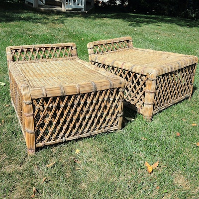 Wicker Bench Seats, Mid to Late 20th Century