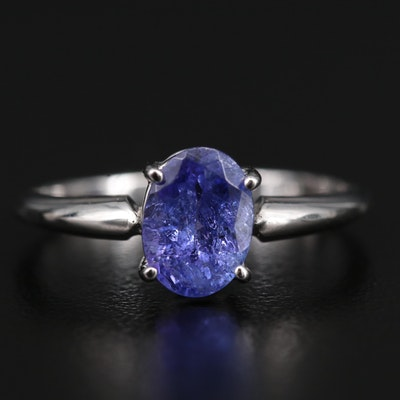 14K Tanzanite Solitaire Ring