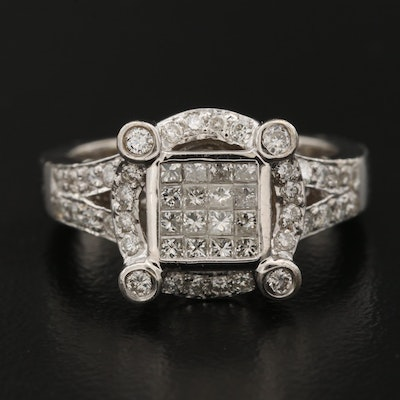 18K Pavé Diamond Ring