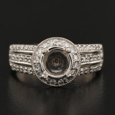 Scott Kay 19K Diamond Semi-Mount Ring