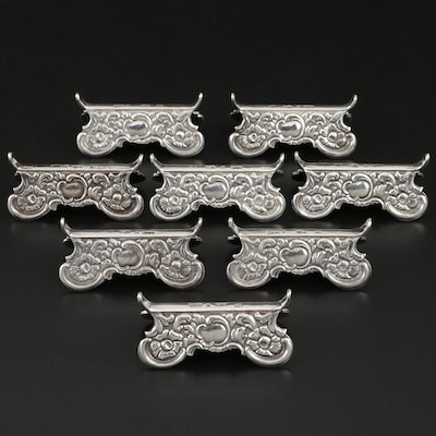 Swedish Baroque Style 833 Silver Knife Rests, 1946