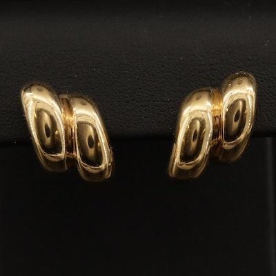 14K Ridged Earrings