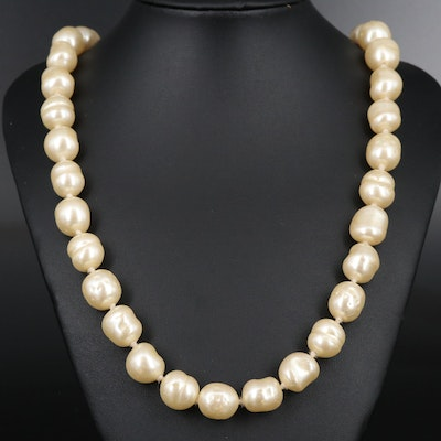"Vintage Chanel ""1981"" Faux Pearl Necklace"