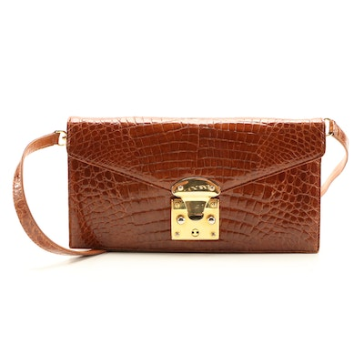 Eileen Kramer Crocodile Skin Two-Way Bag