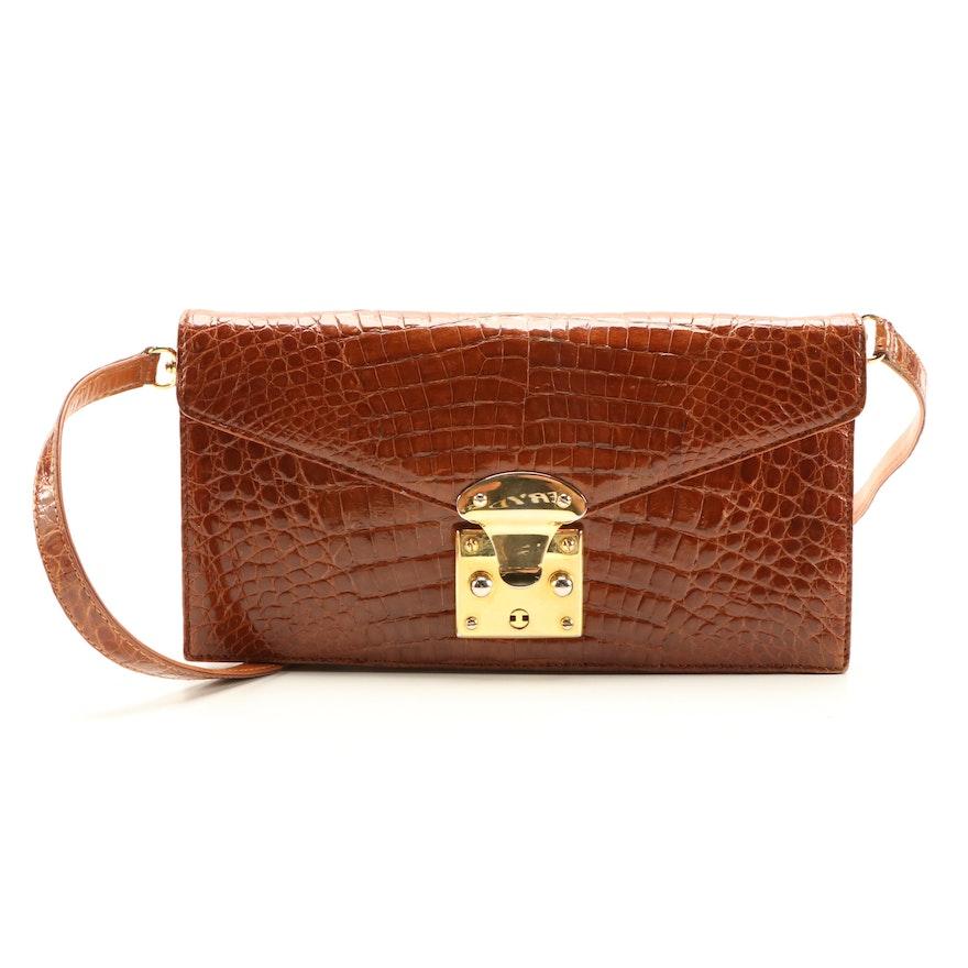 Eileen Kramer Crocodile Skin Two-Way Bag