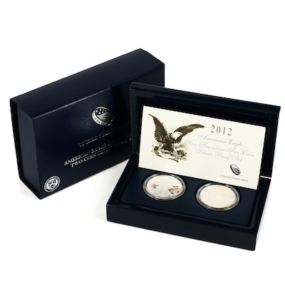 2012 U.S. Mint American Silver Eagle Two-Coin Proof Set