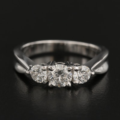 14K Diamond Tapered Ring
