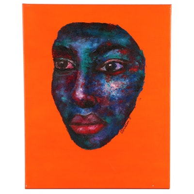 """Oluwakemi Omowaire Oil Painting """"Stories We Tell Ourselves"""", 2020"""