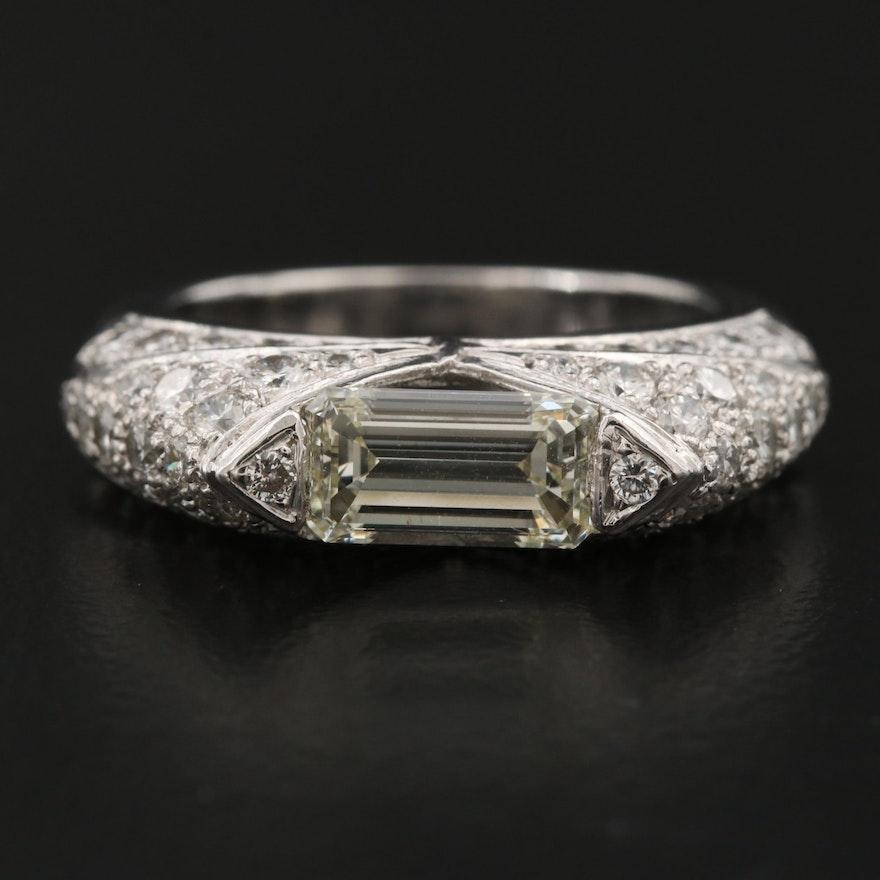 Platinum 3.18 CTW Diamond Ring