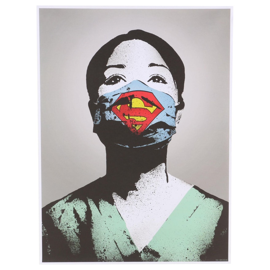 "Offset Lithograph Poster after FAKE ""Super Nurse"", 2020"