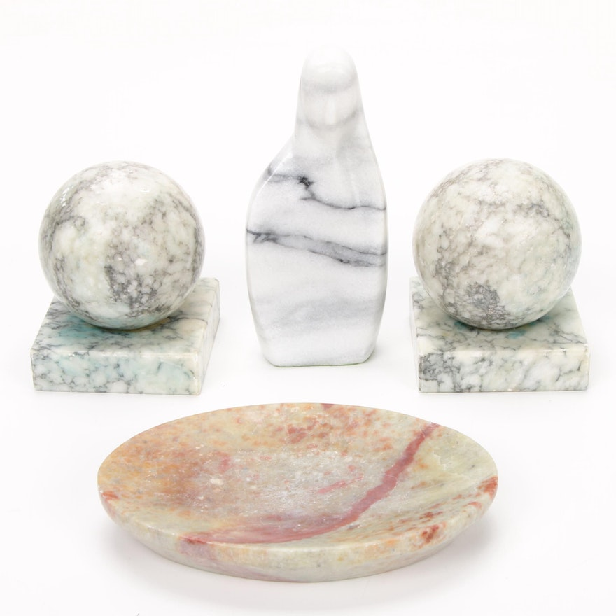 Contemporary Figural Marble Sculpture and Decor