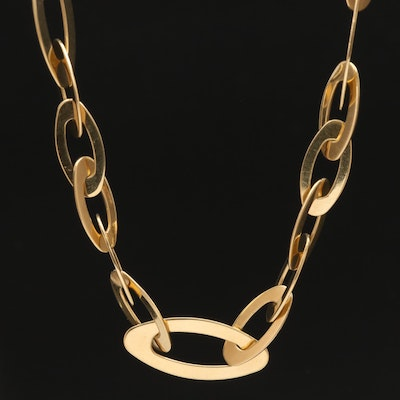 "Roberto Coin ""Chic & Shine"" 18K Necklace with Sapphire Accents"