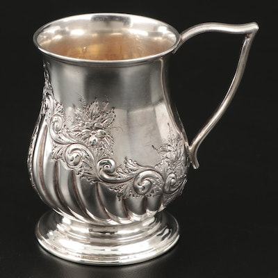 Francis Howard Sterling Silver Baby Cup with Gold Wash Interior, 1900