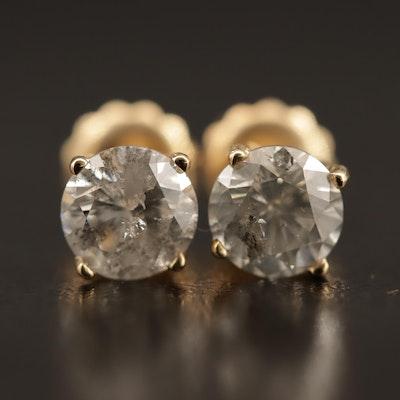 14K 1.55 CTW Diamond Stud Earrings