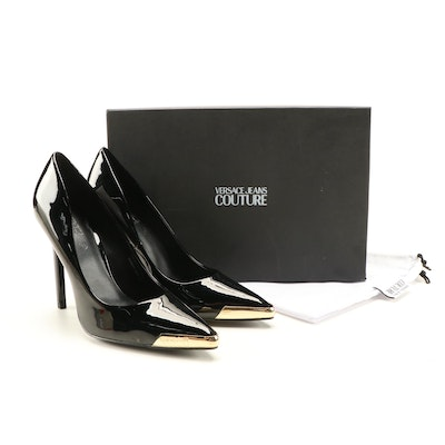 Versace Jeans Couture Linea Fondo Christy Patent Leather Stilettos