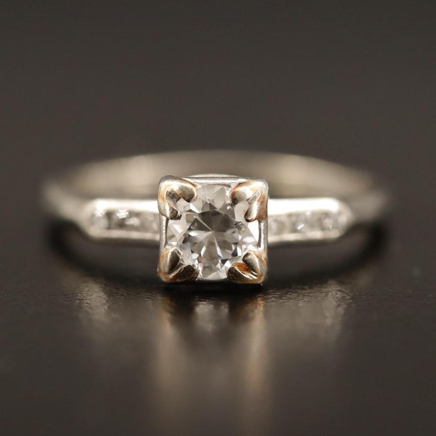 Vintage Jabel 18K Diamond Ring