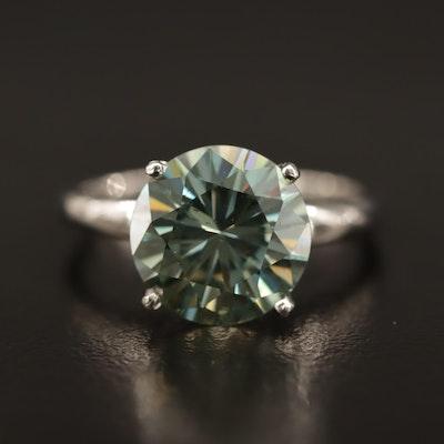 Platinum Moissanite Ring