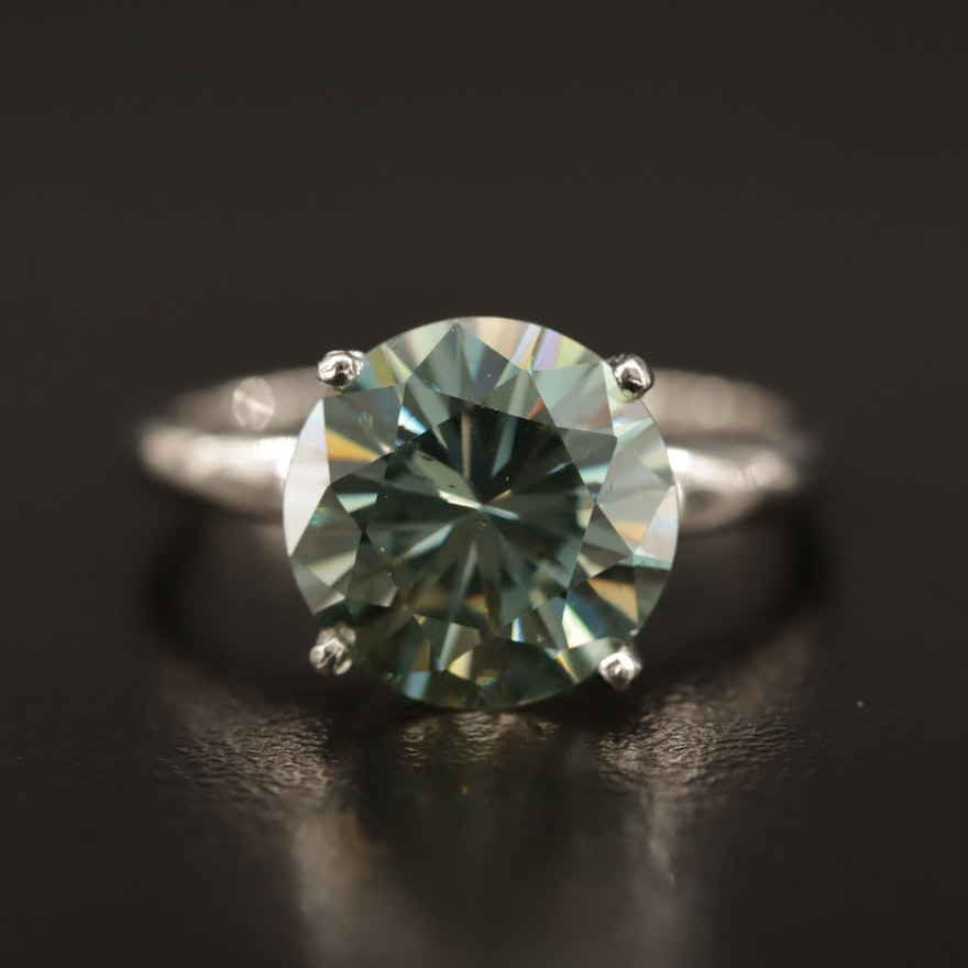 Platinum Moissanite Ring