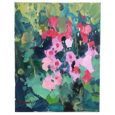 "Jose Trujillo Oil Painting ""The Garden"", 2020"