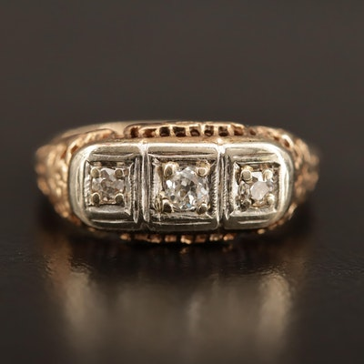 1930s 14K Diamond Ring