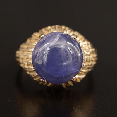 14K Tanzanite Textured Ring