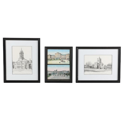 Fergus A. Ryan and Other Architectural Lithographic Prints