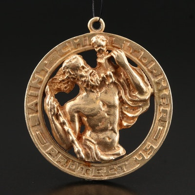 14K Saint Christopher Medallion