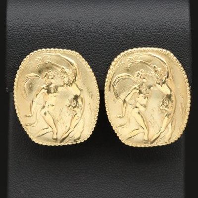 SeidenGang 18K Apollo and Daphne Button Earrings
