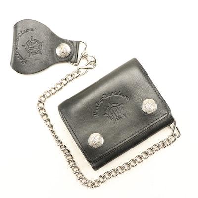 Harley-Davidson Black Leather Chain Wallet