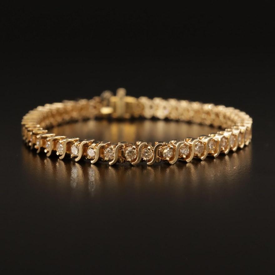 14K 3.01 CTW Diamond Link Bracelet