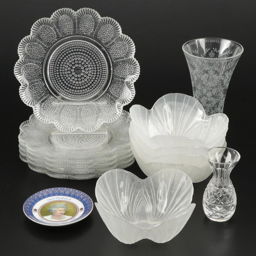 Queen Elizabeth II Diamond Jubilee Memorabilia with Assorted Glass and Crystal