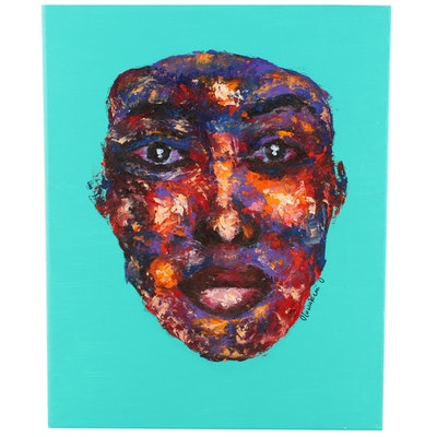 "Oluwakemi Omowaire Oil Painting ""Mindscape"", 2020"