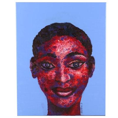 "Oluwakemi Omowaire Oil Painting ""Adetutu"", 2020"