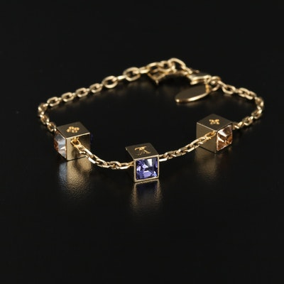 Louis Vuitton Rhinestone Station Bracelet