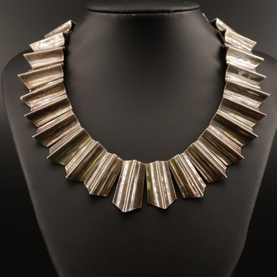 Taxco Modernist Sterling Necklace