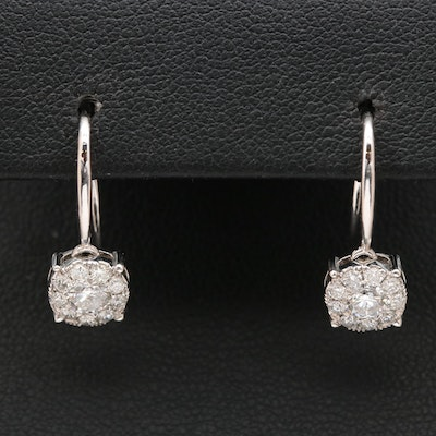 14K 1.02 CTW Diamond Dangle Earrings