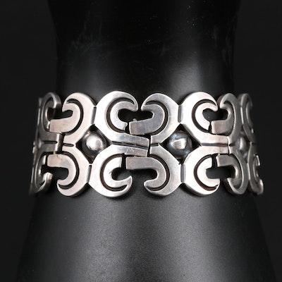 Los Ballesteros Sterling Silver Panel Bracelet