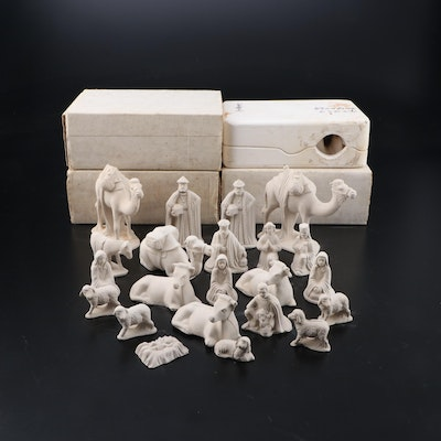 "Duncan Ceramic Molds ""Nativity Set"" Including Figurines"